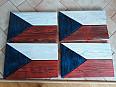 Originální dřevěná vlajka ČR (č.4)