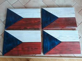 Originální dřevěná vlajka ČR (č.2)