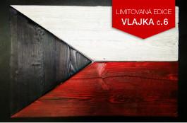 Originální dřevěná vlajka ČR (č.6)