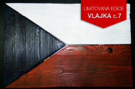 Originální dřevěná vlajka ČR (č.7)