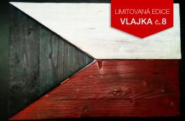 Originální dřevěná vlajka ČR (č.8)