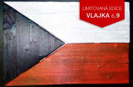 Originální dřevěná vlajka ČR (č.9)