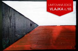 Originální dřevěná vlajka ČR (č.10)