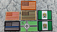 nášivky patches velcro KEKistan thin blue line US USA flag TAN BROWN IR COYOTE