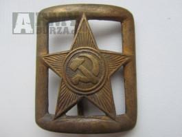 WWII válečná přezka důstojníka Rudé armády