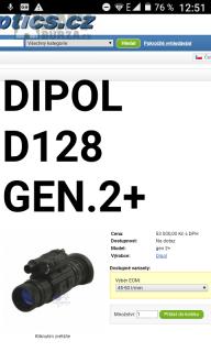 Noční vidění noktovizor DIPOL d128 2.gen