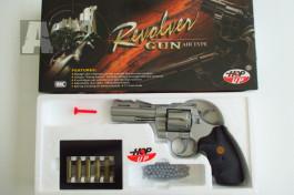 Prodám airsoft manuální pistoli a revolver, brýle, pouzdro
