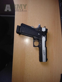 AIRSOFTOVÁ PISTOLE HI-CAPA XTREME .45 FULL AUTO , PLYN BLOWBACK (GBB)