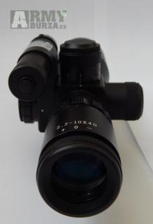 Puškohled krátký s laserem zeleným 2.5-10x40
