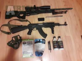 Prodam ak47 tactical,sniper l96+ prislusenstvi