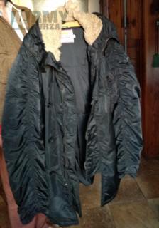 Černá armádní zimní bunda s kapucí originál Rocky Aljaška