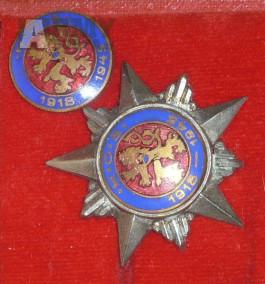 Odbojový odznak Klid odvaha síla