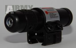 Červený laser na zbraně, na dražky 11mm
