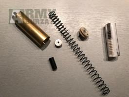 G&P M4 ruzne dily - vzpera mechaboxu, tryska,hlava pistu, hlava valce, pist, pruzina 110MS, valec