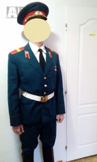 Uniforma SSSR vycházková hudební zelenomodrá + boty půlitry