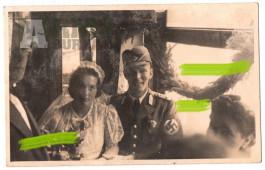 Svatební fotografie pohlednicového formátu příslušníka RAD