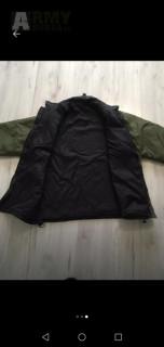 Britská bunda softie zelená/černá XL