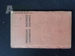 Občanský průkaz - PROTEKTORAT- 1940