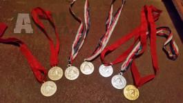 Medaile Pionýr - 7 kusů a pionýr pásky 6 ks,přezka