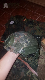 Flecktarn set , Fast helma , MTP ubacs