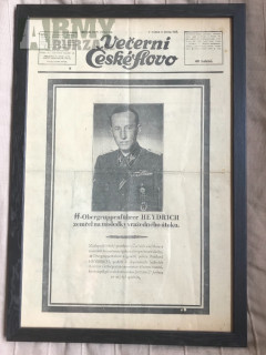 Noviny Heydrich úmrtí