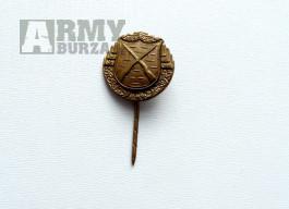 Střelecký odznak - miniatura první republika