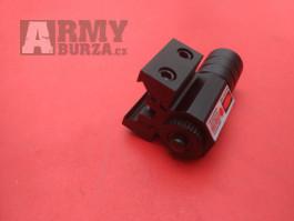 Červený laser na zbraně, na dražky 11 a 22mm
