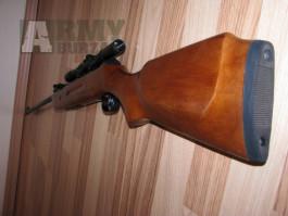Vzduchovka  B-2-4 ráže 4,5 mm, puškohled, diabolky