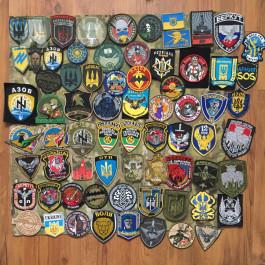 Nášivky Ukrajinský konflikt vyšívané, PVC