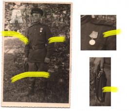 Fotografie důstojník Rudá armáda Ostrava 1945 vyznamenání