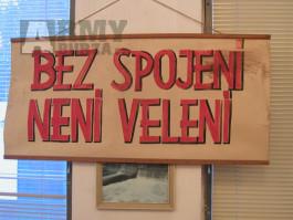 """Vojenský plakát """"Bez spojení nen velení"""""""