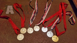 Medaile Pionýr - kompletní pásky,přezka