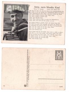 Originál pohlednice Wehrmacht a Kriegsmarine