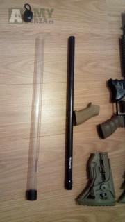 """Rap4 Paintball 22"""" Flute Sniper Barrel - Tippmann 98 Thread"""