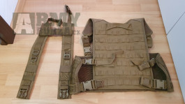 WAS 901 Chest-rig + back panel + H/X vazba Coyote