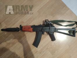 AK-74U upgrade + PBS-4 + Reddot