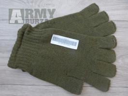 Rukavice pletené, zelené AČR s prsty i bez