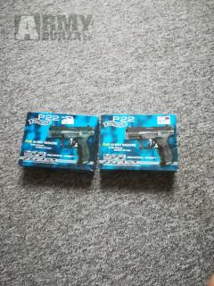 2x mechanická pistol P22