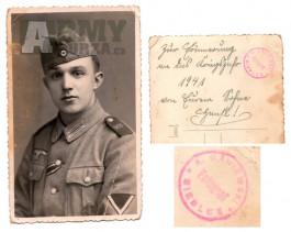 Fotka voják Wehrmacht vyznamenání