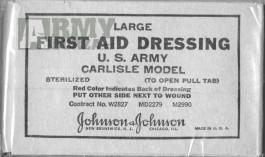 Zdravotnický obvazový materiál, originál US WW II