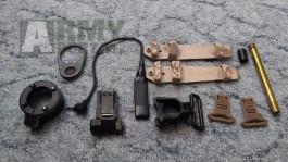 glass breaker FMA tlakový spínač pressure switch Element hlaveň Sig P226 WE  KAC mířidla sights G&P hop up gumička  V-Lite  AN/PEQ-15 LA-5 Surefire