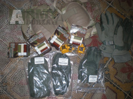 Combat gloves nákoleníky MC  scorpion camuflage barva koncovky na m4
