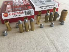 Prodám náboje .45 Schofield a .45 Long Colt s černým prachem
