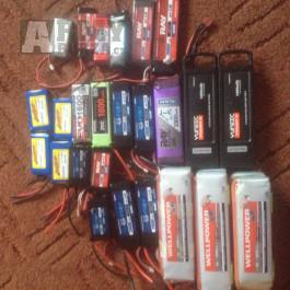 Nové LiPol baterie 3,7-18,5V/400-5400mAh, SKVĚLÉ CENY