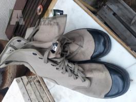 Plátěné vojenské boty