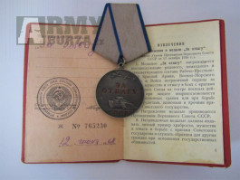 Medaile za odvahu s dekretem 1968
