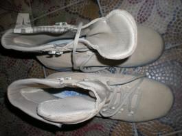 MEIND Boty EU 44,5 UK 10 Pískové kvalitní vojenské i turistické boty