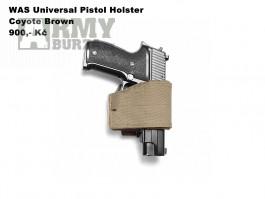 WAS Universal Pistol Holster Coyote Brown pro praváka