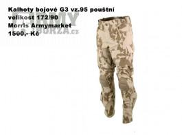 Kalhoty bojové G3 vz.95 pouštní, 172/90