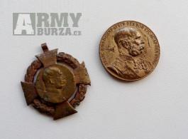 Originál Rakousko-Uherská vyznamenání Jubilejní kříž a medaile